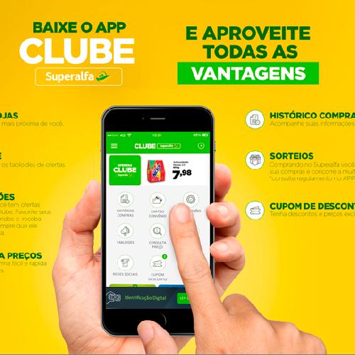 APP Clube Superalfa oferece vantagens